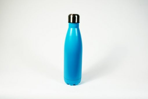 Insulated thermos bottle, blue. 500 ml.
