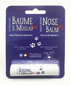Dry nose balm with emu oil and vitamin E.