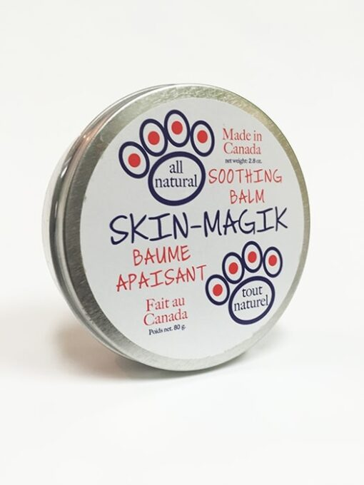All natural soothing skin balm for pets. 80 g container.