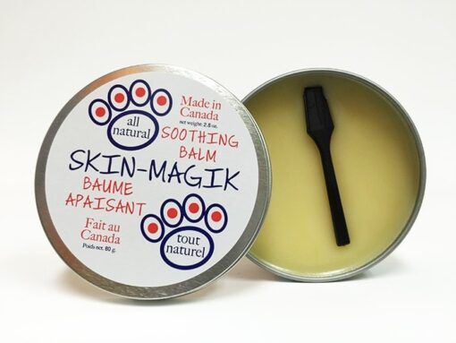 All natural soothing skin balm for pets. 80 g container with spatula.