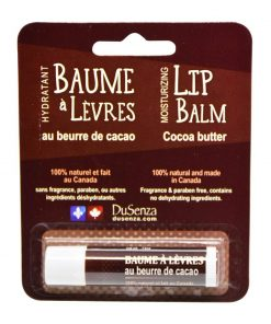 Cocoa Butter Lip Balm, made in Canada. 14 oz net wt.
