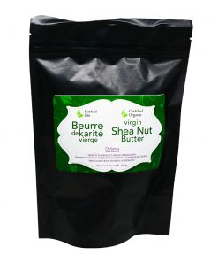 Virgin Shea Nut Butter, certified organic. 250 g bag.