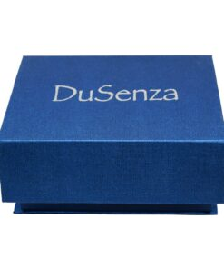 Blue DuSenza gift box, closed.