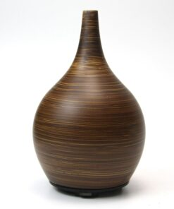 Ultrasonic diffuser, dark striped wood style. 120 ml capacity, auto shut off.