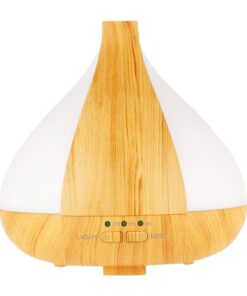 Ultrasonic diffuser, light wood style. Changing LED light. 220 ml capacity. Auto shut off.