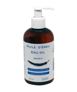 Emu oil. 250 ml bottle with dispenser pump.