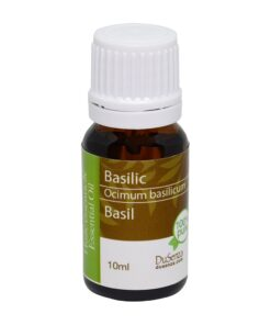 Basil essential oil. 10 ml bottle.