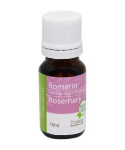 Rosemary essential oil. 10 ml bottle.