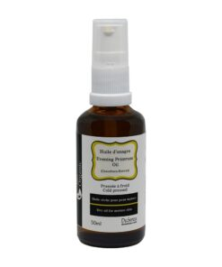 Evening primrose dry oil, cold pressed. 50 ml bottle with dispenser pump.