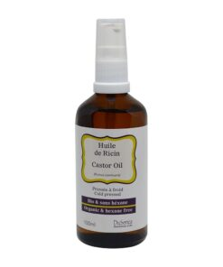 Organic cold pressed castor oil. 100 ml bottle with dispenser pump.