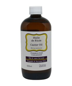 Organic cold pressed castor oil. 500 ml bottle.