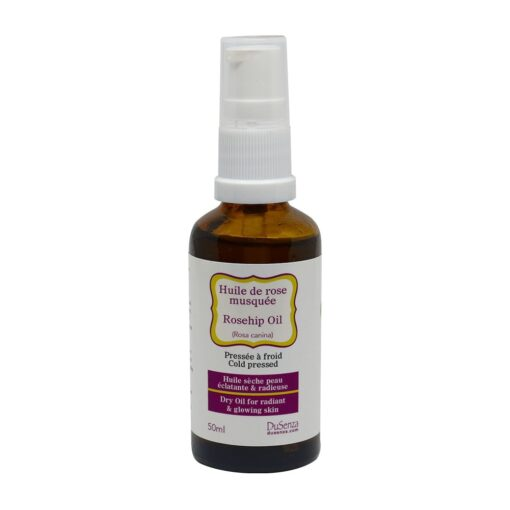 Cold pressed dry rosehip oil. 50 ml bottle with dispenser pump.