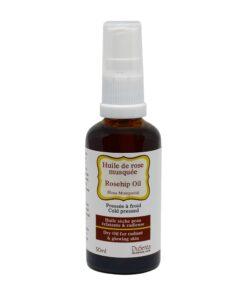 Cold pressed rosehip dry oil. 50 ml bottle with dispenser pump.